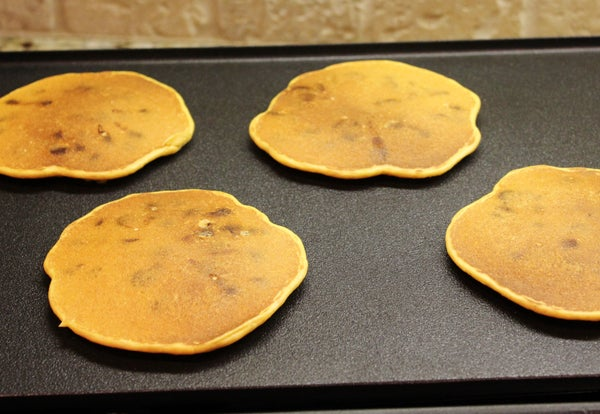 Gluten Free Sweet Potato Chocolate Chip Pancakes