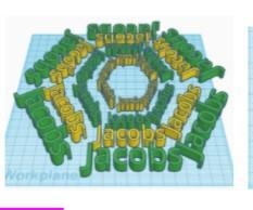 Tinkercad Name Patterns
