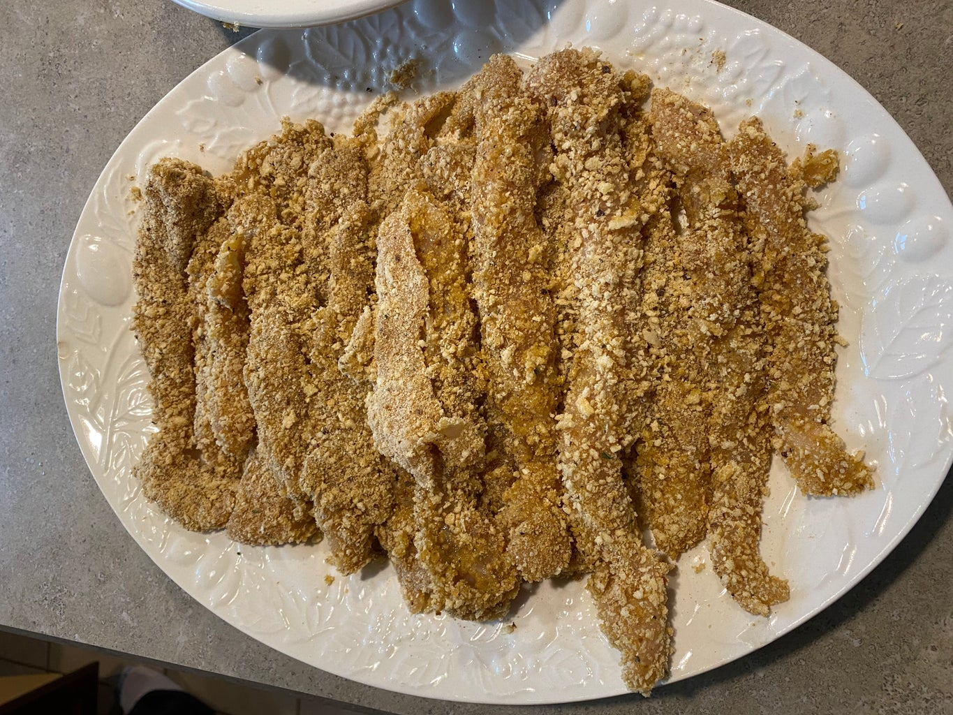 Step 5: Putting the Breading Onto the Chicken