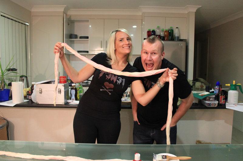 How to make fake intestines!