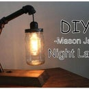 Retro Mason Jar Nightstand Lamp