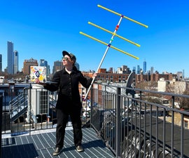 卷尺与3D打印的耦合器的yagi天线