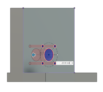 Design Process - Moving Load Cell Mount - T12 Nut Mounting Holes