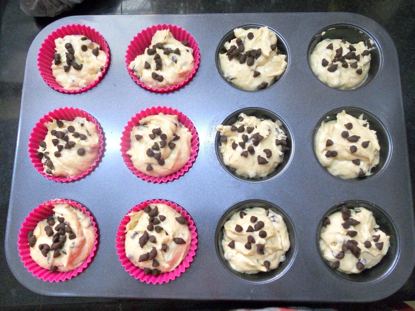 Banana Cupcakes With Chocolate Chips