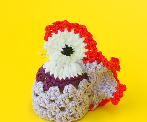 Crochet Rooster Egg Cozy