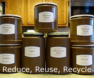 Repurposing Containers for Pantry Storage