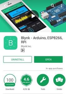 Installing Blynk App