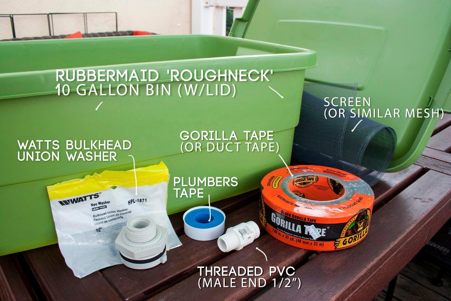 Materials & Tools List
