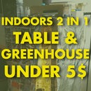 DIY Indoors Greenhouse Under 5$