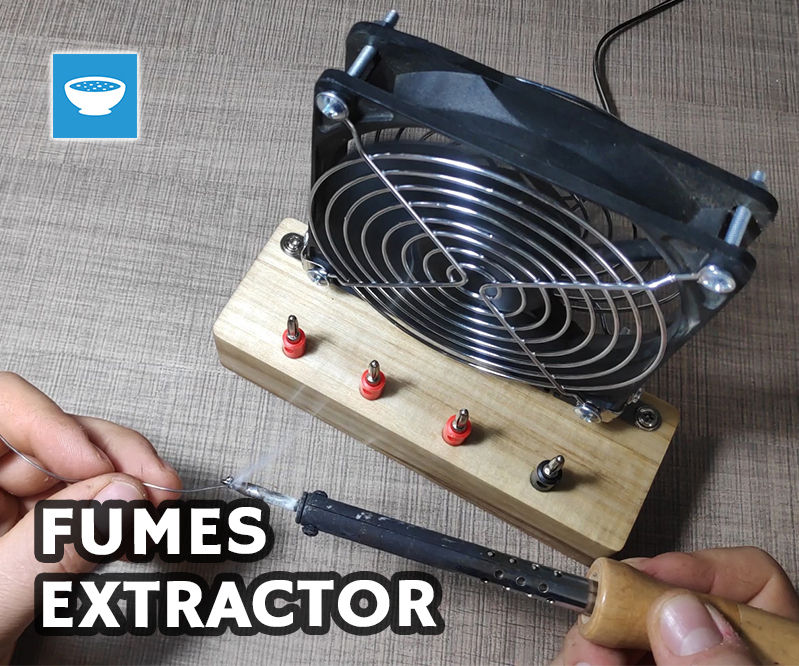 Fumes Extractor and Power Supply Combo