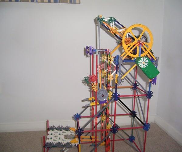 Knex 'wheeled Crankshaft' Ball Lift