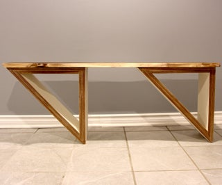 Live Edge and Plywood Coffee Table