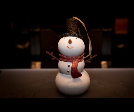 3D Print and Post Process the Cutest Snowman Ever