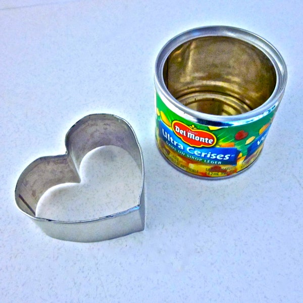 Heart Shaped Cookie Cutter From Tin Can