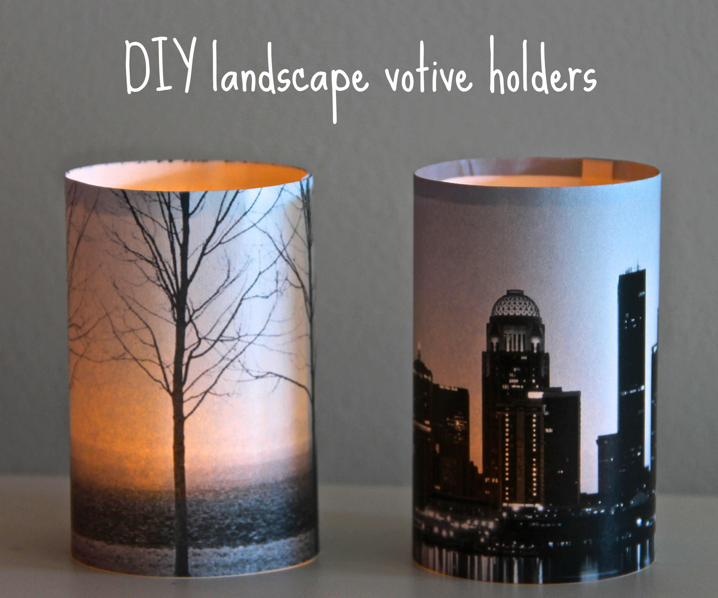 DIY landscape votive holders
