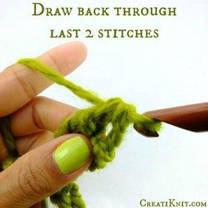 Draw Back Through Last 2 Stitches