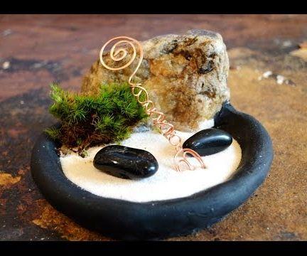 DIY Mini Zen Garden Rake in Copper Wire