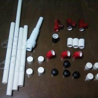 Trípode PVC + Corte Laser  (Tripod PVC + LaserCut)