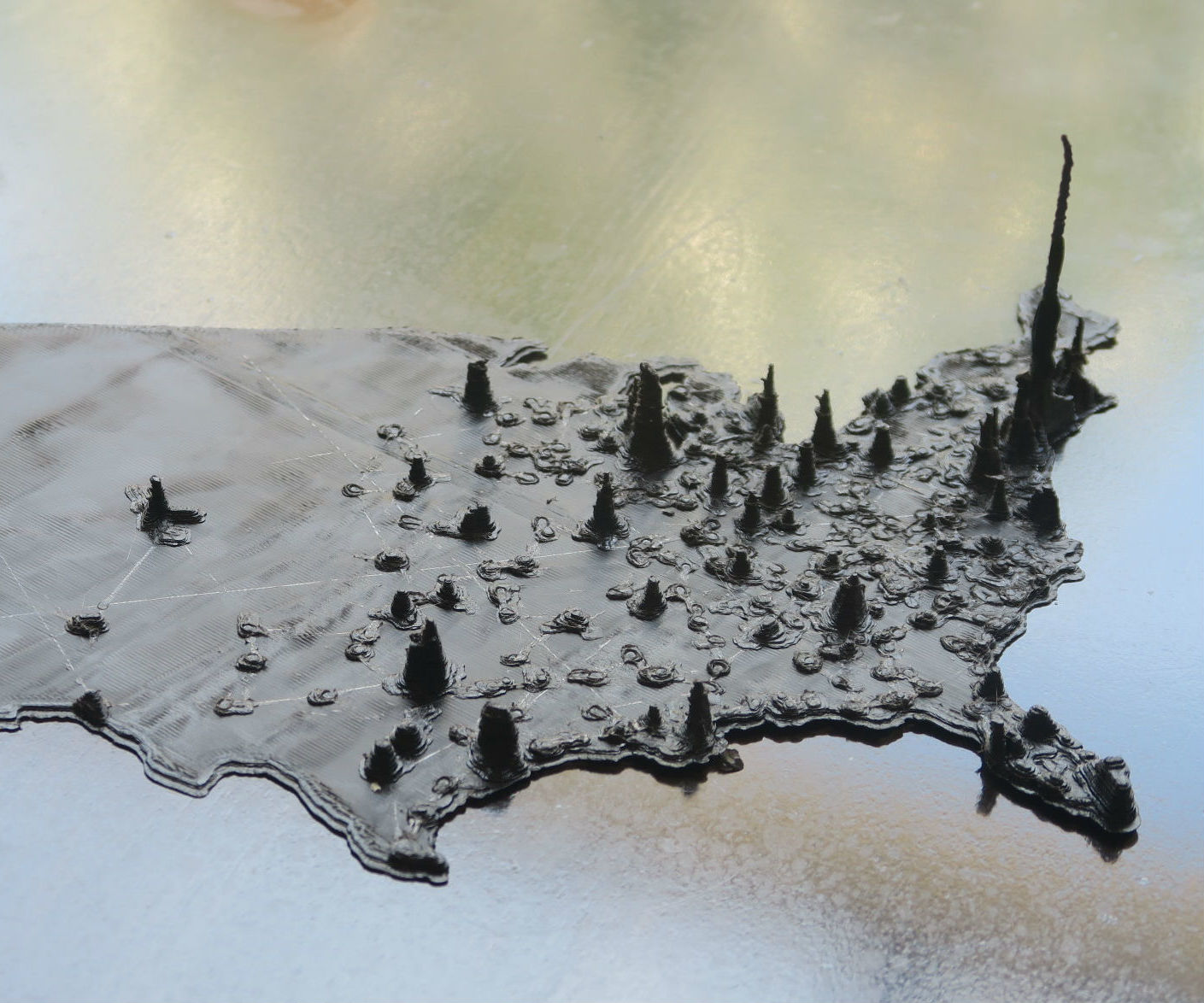 3D Printed US Population Map