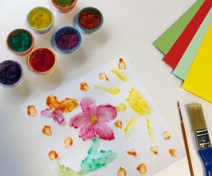 DIY Edible Texture Finger Paint for Kids