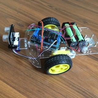 Arduino HC-SR04 Ultrasonic Rover