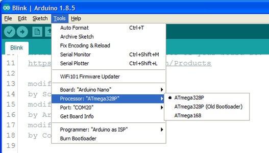 Upload Code to Arduino.