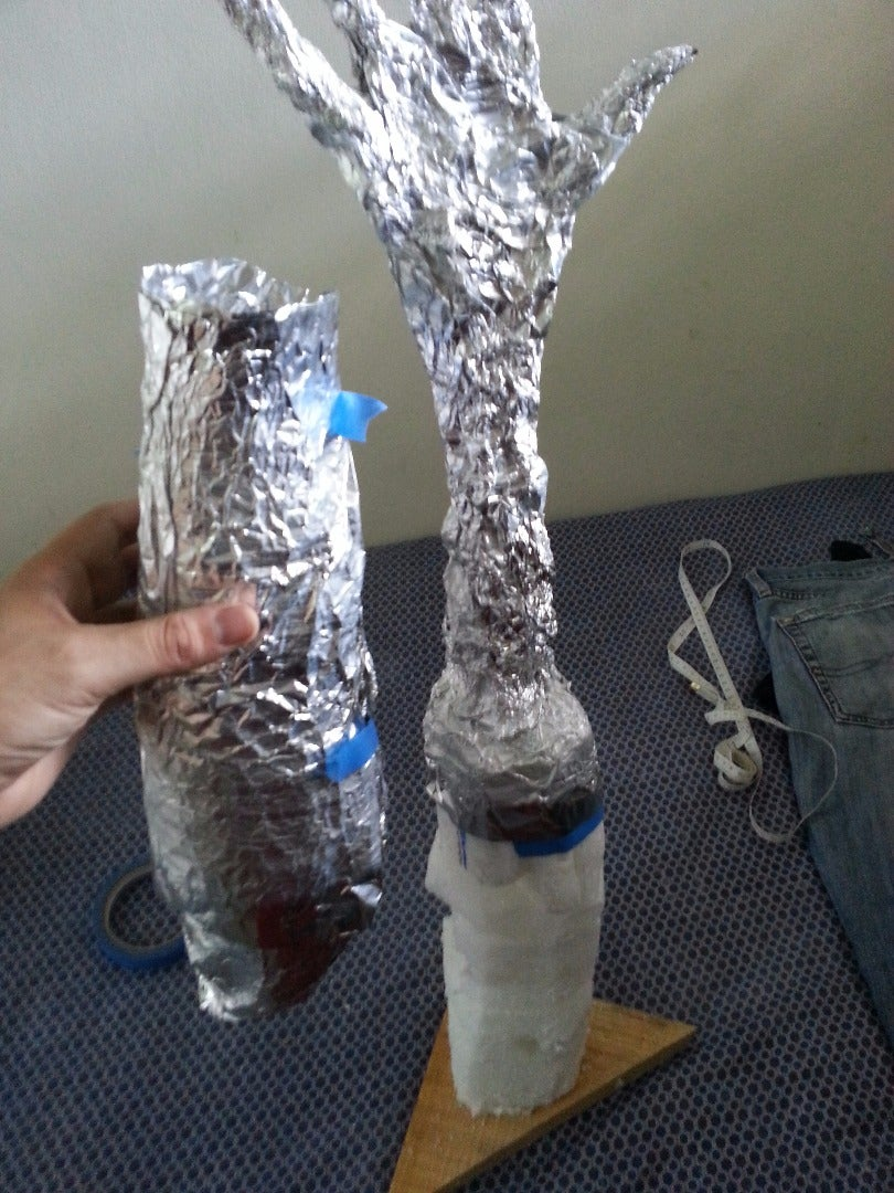 Now Make a Double or Triple Layer Copy of Your Arm Using Aluminium Paper