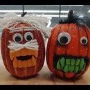 Light-up Monster Pumpkins