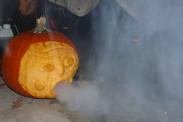 Pumpkin Fog Machine