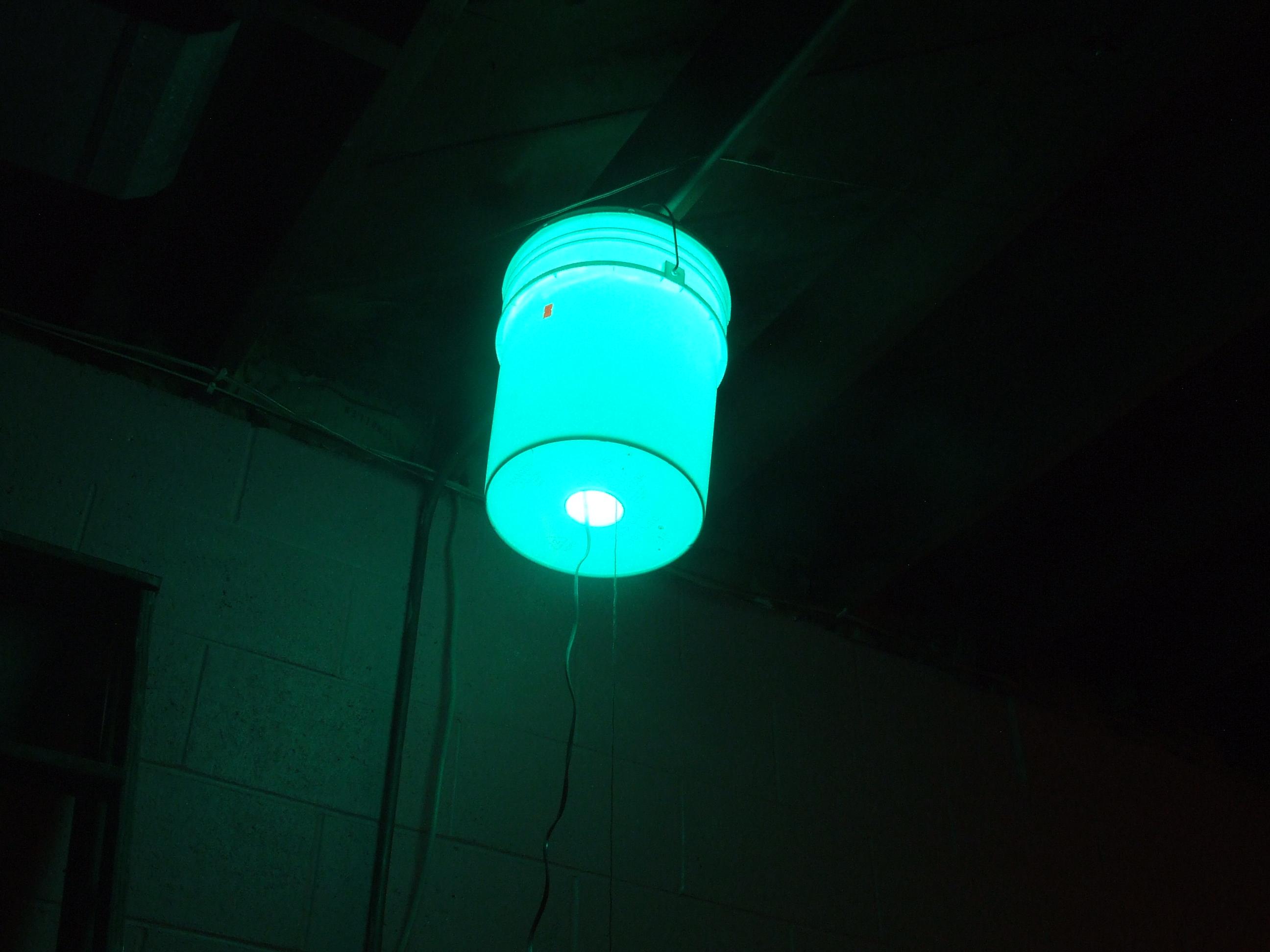 The bucket lamp.