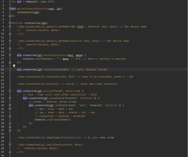 #MyoCraft: Myo Armband With Node.js on Intel Edison Board