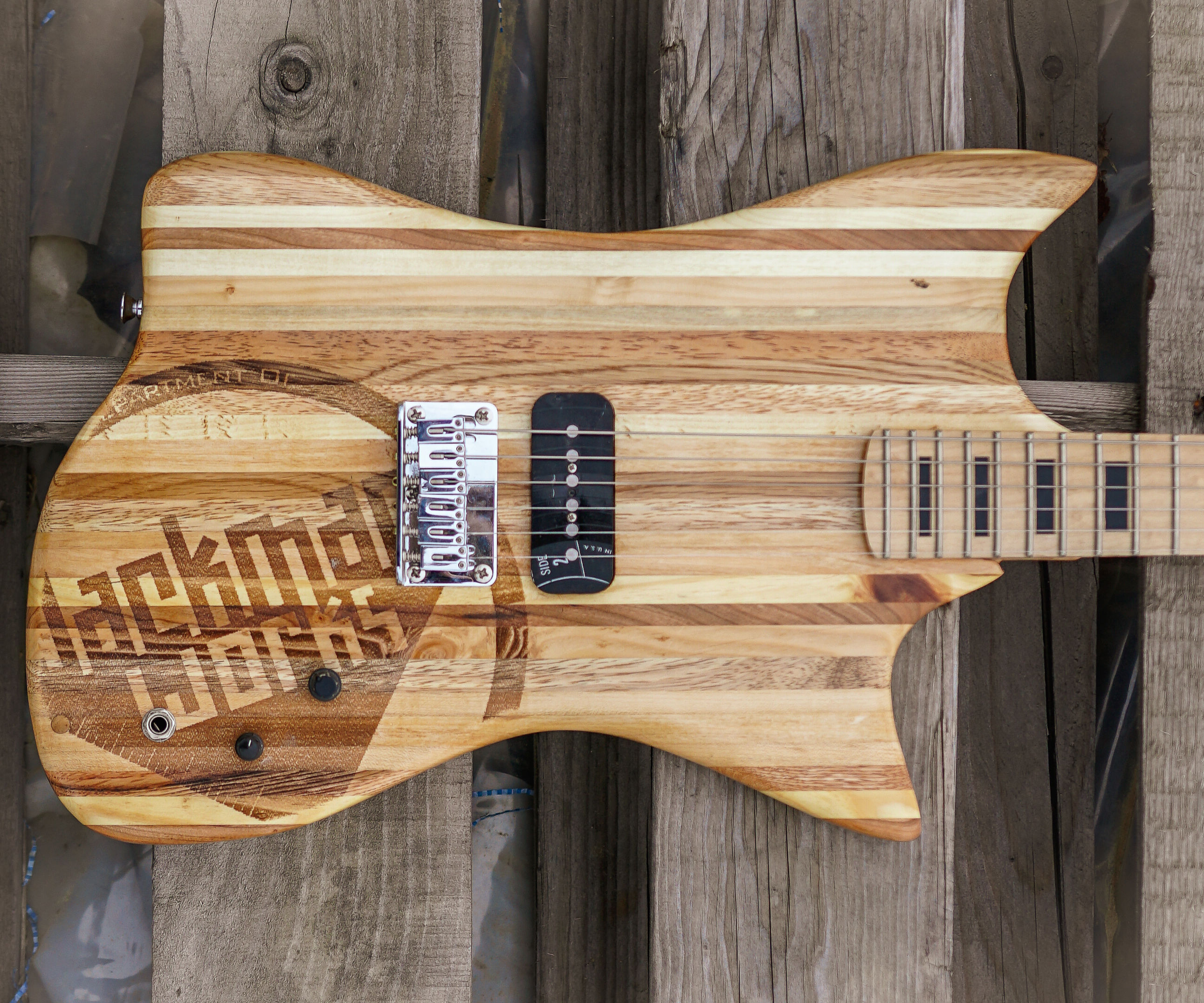 Laminated Pallet Wood Guitar