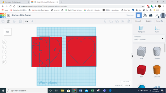 Jigsaw Puzzle- Using Tinkercad
