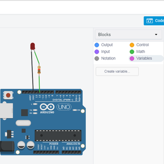 Blink an LED With Arduino in Tinkercad