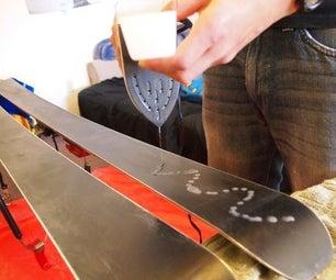滑雪/滑雪板曲:锐化和蜡