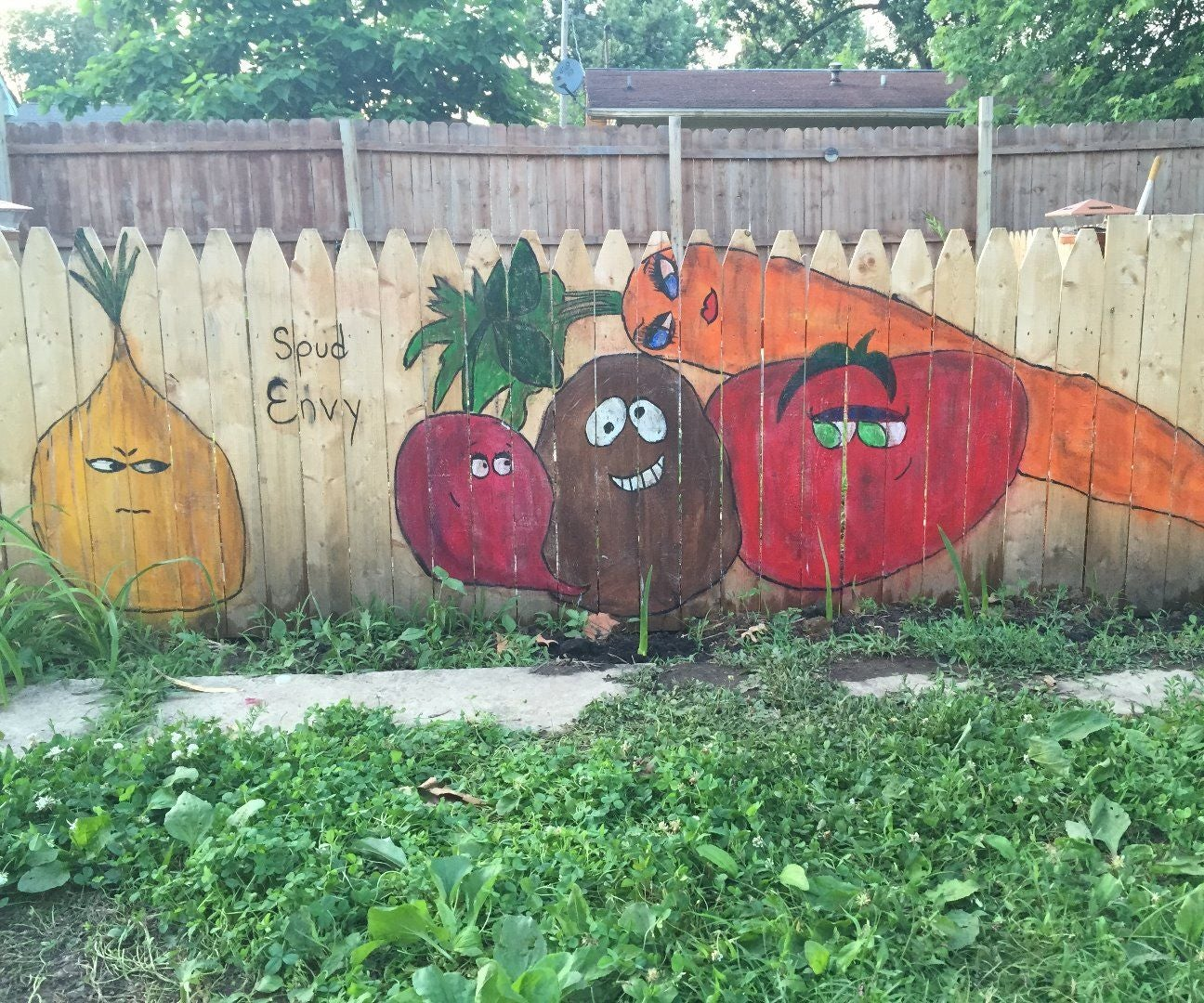 Vegetable Garden Fence Mural 5 Steps With Pictures Instructables
