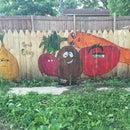 Vegetable Garden Fence Mural