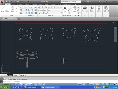 Design Individual Butterfly/Dragonfly Template