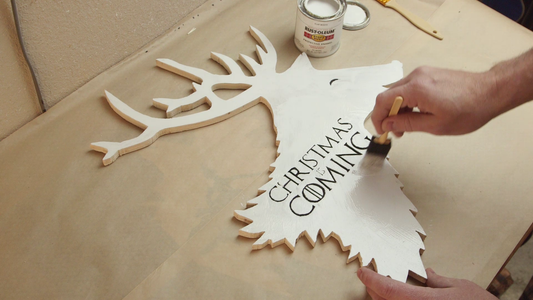 Cleanup and Paint the Reindeer