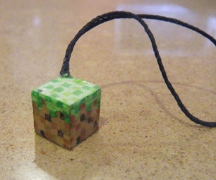 Minecraft Grass Phone Charm Slideshow