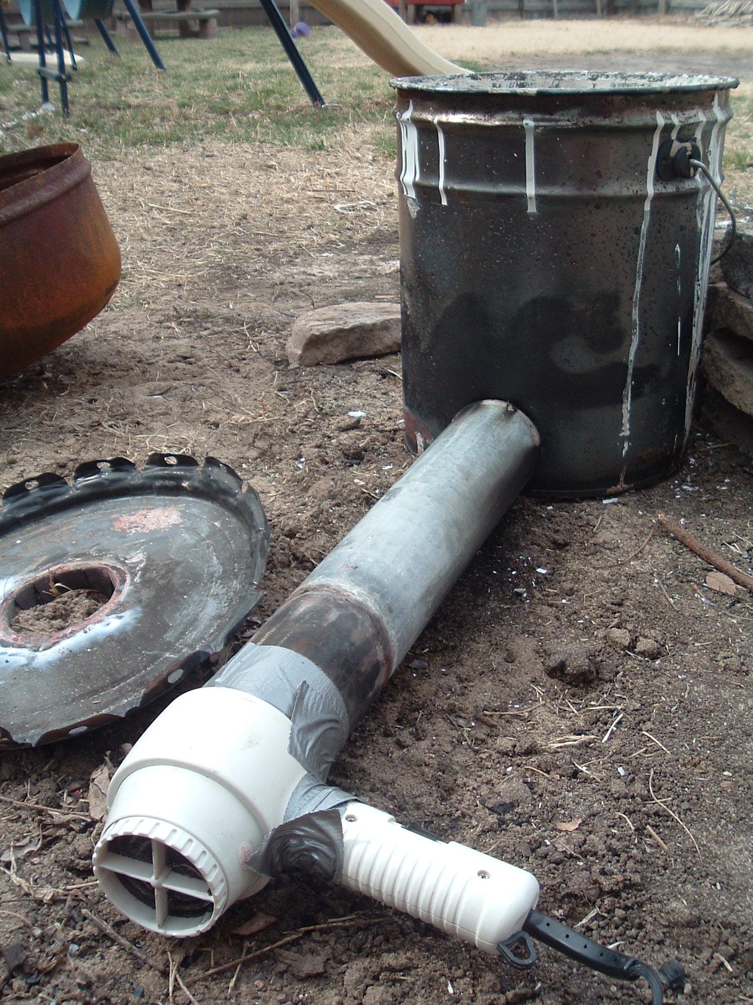 Quick and cheap aluminum melting furnace setup