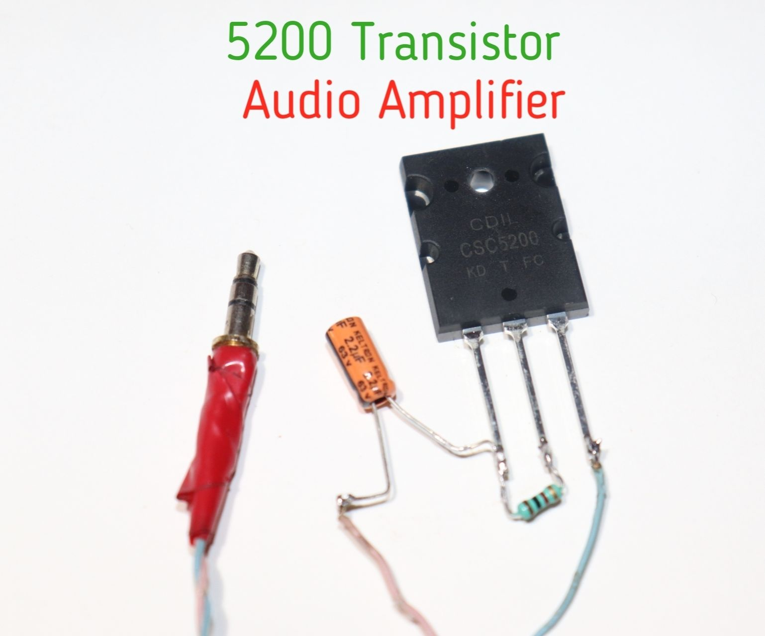 How to Make 5200 Transistor to Audio Amplifier