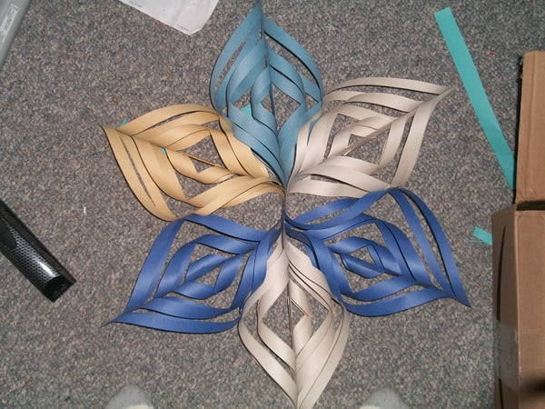 3-D Snowflake of Awesomeness NO GLUE REQUIRED