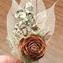Woodsy Cedar and Moss Boutonnieres