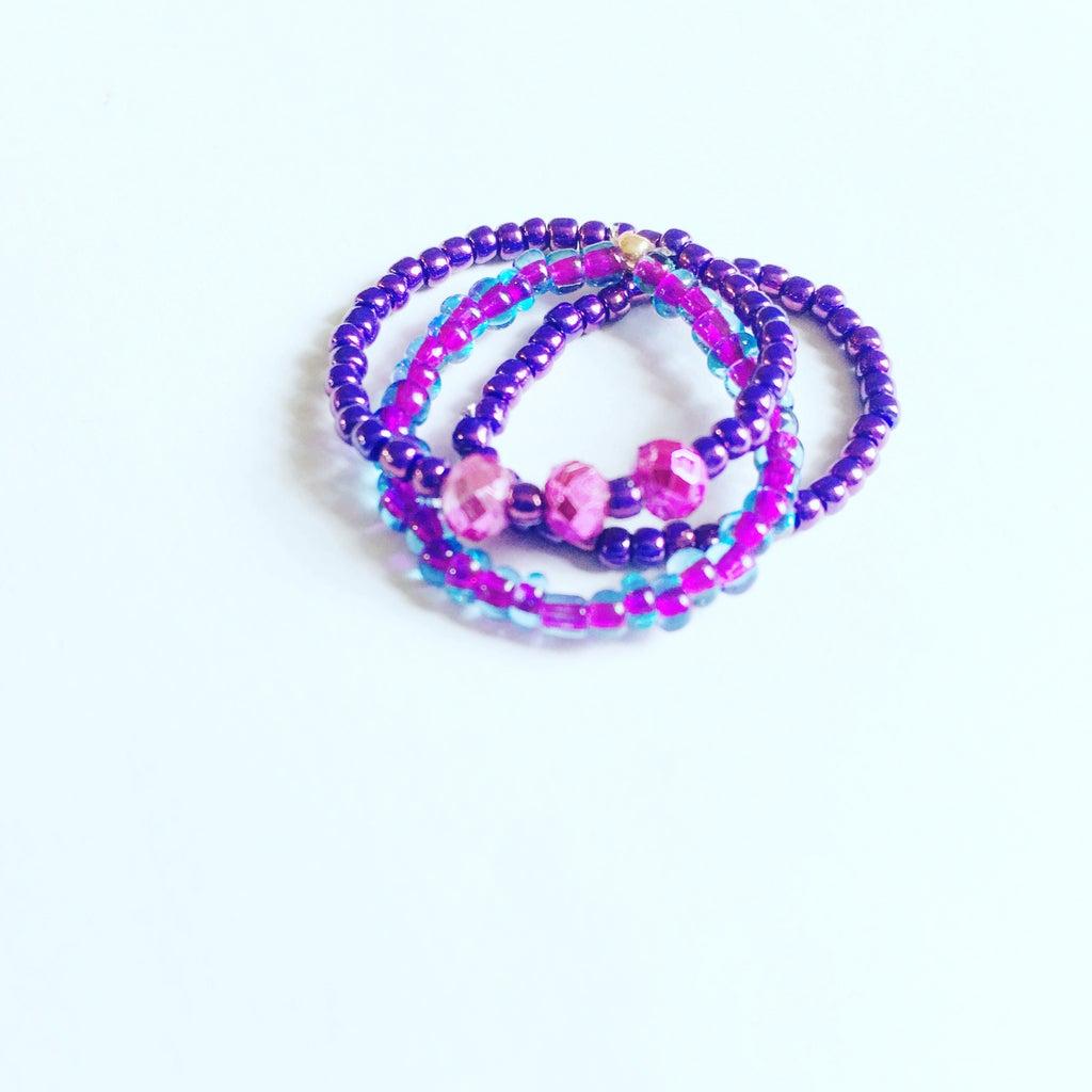 Simple Seed Bead Rings
