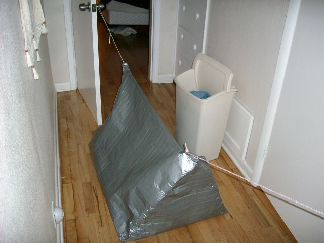 duct tape pup tent