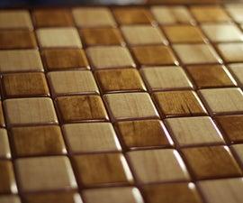 Solid Wood Intarsia Chess-board