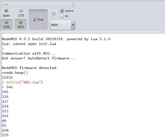 NODEMCU LUA ESP8266 How to use ADC / TOUT pin