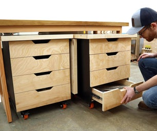 Tool Storage Carts With Folding Top!
