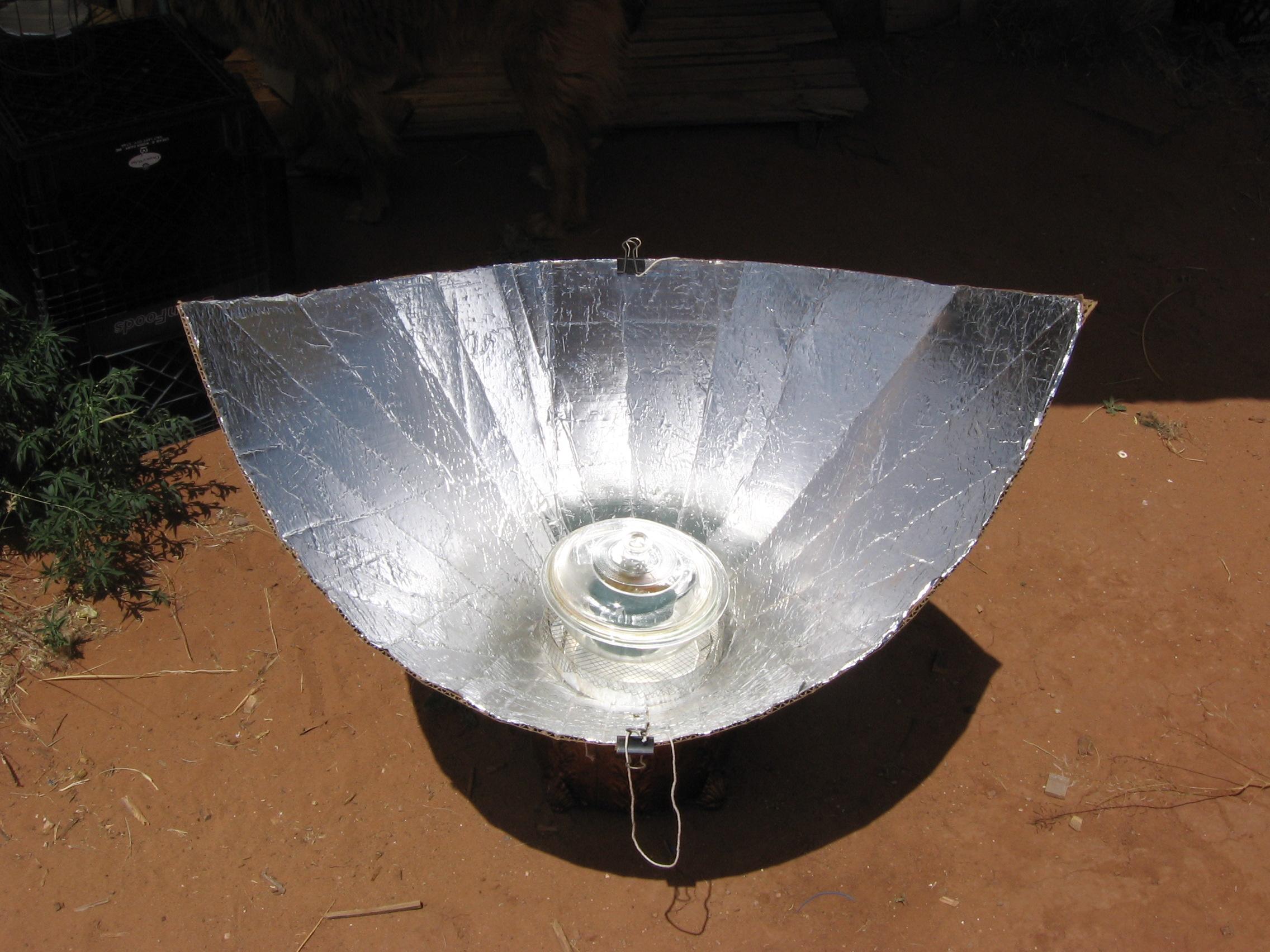 Cardboard. Foil. Glue: The Solar Funnel Cooker